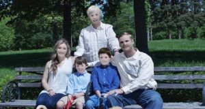 sesja zdjęciowa amerykańskiej rodziny